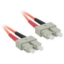 6m SC/SC Duplex 50/125 Multimode Fiber Patch Cable - Orange
