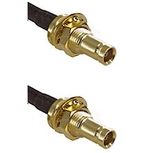 1.0/2.3 Female Bulkhead On Belden 83242 RG142 to 1.0/2.3 Female Bulkhead Cable Assembly