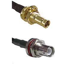1.0/2.3 Female Bulkhead On Belden 83242 RG142 to SHV Bulkhead Jack Cable Assembly