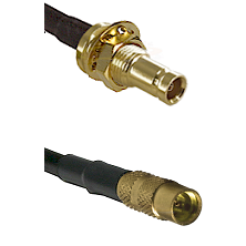 1.0/2.3 Female Bulkhead On LMR100/U to MMCX Female Cable Assembly