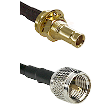 1.0/2.3 Female Bulkhead On LMR100 to Mini-UHF Male Cable Assembly