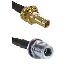 1.0/2.3 Female Bulkhead On LMR100 to N Female Bulkhead Cable Assembly