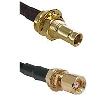 10/23 Female Bulkhead on LMR100 to SMC Female Bulkhead Cable Assembly