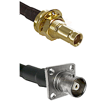 1.0/2.3 Female Bulkhead On LMR-195-UF UltraFlex to C 4 Hole Female Cable Assembly