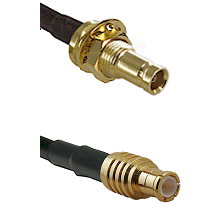 1.0/2.3 Female Bulkhead On LMR-195-UF UltraFlex to MCX Male Cable Assembly