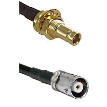 1.0/2.3 Female Bulkhead On LMR-195-UF UltraFlex to MHV Female Cable Assembly