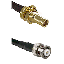 1.0/2.3 Female Bulkhead On LMR-195-UF UltraFlex to MHV Male Cable Assembly