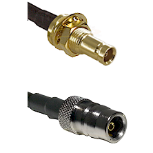 1.0/2.3 Female Bulkhead On LMR-195-UF UltraFlex to QN Female Cable Assembly