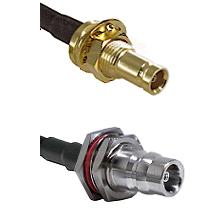 1.0/2.3 Female Bulkhead On LMR-195-UF UltraFlex to QN Female Bulkhead Cable Assembly