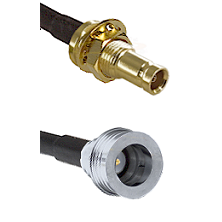 1.0/2.3 Female Bulkhead On LMR-195-UF UltraFlex to QN Male Cable Assembly