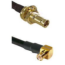 1.0/2.3 Female Bulkhead On LMR-195-UF UltraFlex to MCX Right Angle Male Cable Assembly