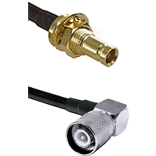 1.0/2.3 Female Bulkhead On LMR-195-UF UltraFlex to SC Right Angle Male Cable Assembly