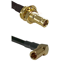 1.0/2.3 Female Bulkhead On LMR-195-UF UltraFlex to SLB Right Angle Female Cable Assembly