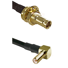 1.0/2.3 Female Bulkhead On LMR-195-UF UltraFlex to SLB Right Angle Male Cable Assembly