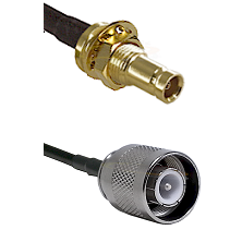 1.0/2.3 Female Bulkhead On LMR-195-UF UltraFlex to SC Male Cable Assembly