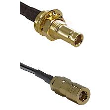 1.0/2.3 Female Bulkhead On LMR-195-UF UltraFlex to SLB Female Cable Assembly