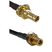 1.0/2.3 Female Bulkhead On LMR-195-UF UltraFlex to SLB Female Bulkhead Cable Assembly