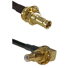1.0/2.3 Female Bulkhead On LMR-195-UF UltraFlex to SLB Male Bulkhead Cable Assembly