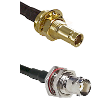 10/23 Female Bulkhead on LMR200 UltraFlex to BNC Female Bulkhead Cable Assembly