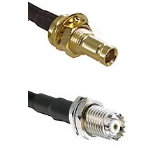 10/23 Female Bulkhead on RG142 to Mini-UHF Female Cable Assembly