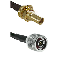 10/23 Female Bulkhead on RG142 to N Reverse Polarity Male Cable Assembly