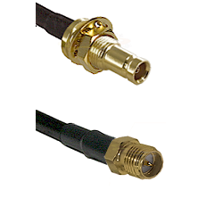 10/23 Female Bulkhead on RG142 to SMA Reverse Polarity Female Cable Assembly
