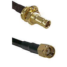 10/23 Female Bulkhead on RG142 to SMA Reverse Polarity Male Cable Assembly