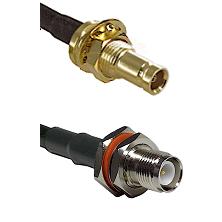 10/23 Female Bulkhead on RG142 to TNC Reverse Polarity Female Bulkhead Cable Assembly