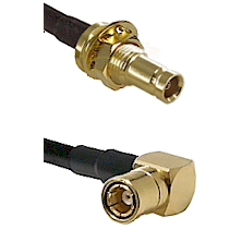 10/23 Female Bulkhead on RG142 to SMB Right Angle Female Cable Assembly