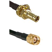 10/23 Female Bulkhead on RG142 to SMA Reverse Thread Male Cable Assembly