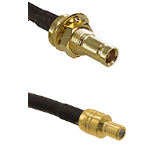 10/23 Female Bulkhead on RG142 to SMB Male Cable Assembly
