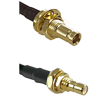 10/23 Female Bulkhead on RG142 to SMB Male Bulkhead Cable Assembly