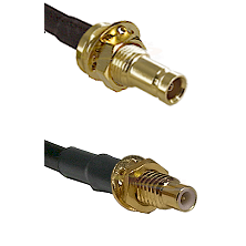 10/23 Female Bulkhead on RG142 to SMC Male Bulkhead Cable Assembly