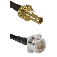 10/23 Female Bulkhead on RG58C/U to 7/16 4 Hole Female Cable Assembly