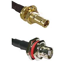 10/23 Female Bulkhead on RG58C/U to C Female Bulkhead Cable Assembly