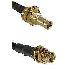 10/23 Female Bulkhead on RG58C/U to MCX Female Bulkhead Cable Assembly