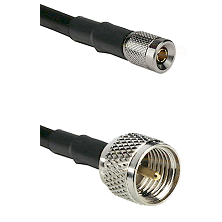 10/23 Male on LMR100 to Mini-UHF Male Cable Assembly
