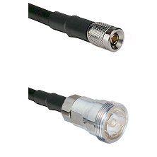10/23 Male on LMR-195-UF UltraFlex to 7/16 Din Female Cable Assembly