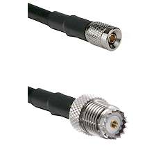 10/23 Male on LMR-195-UF UltraFlex to Mini-UHF Female Cable Assembly