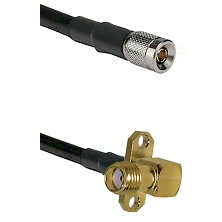 10/23 Male on LMR-195-UF UltraFlex to SMA 2 Hole Right Angle Female Cable Assembly