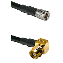 10/23 Male on LMR-195-UF UltraFlex to SMC Right Angle Female Cable Assembly