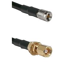 10/23 Male on LMR-195-UF UltraFlex to SMC Female Bulkhead Cable Assembly