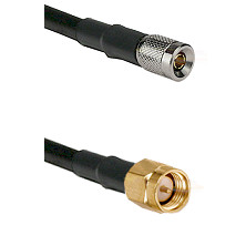 10/23 Male on LMR200 UltraFlex to SMA Reverse Thread Male Cable Assembly
