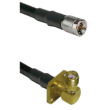 10/23 Male on RG400 to SMA 4 Hole Right Angle Female Cable Assembly