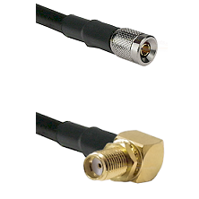 10/23 Male on RG400 to SMA Reverse Thread Right Angle Female Bulkhead Cable Assembly