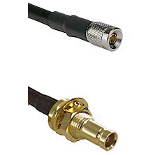 10/23 Male on RG58C/U to 10/23 Female Bulkhead Cable Assembly