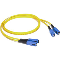 1m USA-Made SC/SC Duplex 9/125 Single Mode Fiber Patch Cable - Yellow