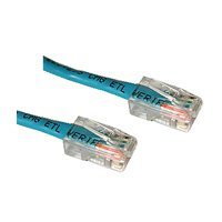Category 5e 350mhz (Cat5e) Cross Over Patch Cables Without Boots Blue 1ft