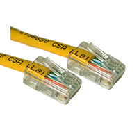 Category 5e 350mhz (Cat5e) Cross Over Patch Cables Without Boots Yellow 4ft