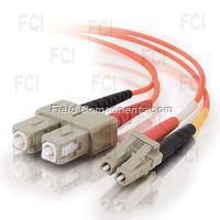 10m LC/SC Duplex 50/125 Multimode Fiber Patch Cable - Orange